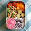 #060 豚肉とインゲン、レンコンの醤油炒め弁当(家弁)