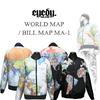 アイディー【EYEDY 】 × 世界地図/紙幣地図 × MA-1フライトジャケット!