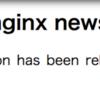 nginx mainline 1.15.1 リリース!!