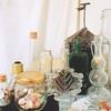 ガラスの瓶を集める癖。瓶の紹介と活用法の検討。