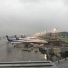 ANAで広島へ 羽田空港 朝のラウンジ、異常な遅延、広島空港で早い昼食