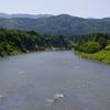 ツイッターの背景画像「最上川三ヶ瀬の流れ」にしました。