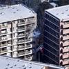 世田谷でマンション火災、11階から出火