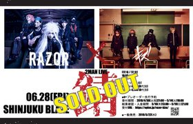 【V系】RAZOR×キズ 2MAN LIVE「錆」で新時代をみた