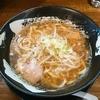 「コク煮干中華そば(ひもかわ麺)」客野製麺所