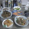 幸運な病のレシピ( 110 ) 茄子と牛肉、エリンギと豚肉、半月餃子シャービン、大根の味噌汁 「新発田まつり」