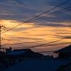 昨日の夕空と今朝の空