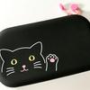 【猫グッズ】リヒトラブ のシリコン製ファスナーポーチはたっぷり入ってパカっと開いて使いやすい