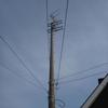 久しぶりのコンクリート柱上のアンテナです。
