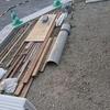 外構工事5日目~木枠が出来上がっていました。