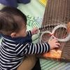 【0歳6ヶ月】本物の楽器に触れる