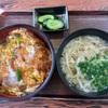 🚩外食日記(855)    宮崎ランチ  🆕「車うどん」より、【カツ丼、小たぬきうどんセット】‼️