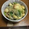 青梗菜と帆立の中華丼