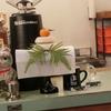 築地の「ターレットコーヒー」でチャイティーラテ、グリーンティーラテ。