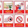 Nội quy an toàn lao động: quy định về biển báo bảo hộ lao động.
