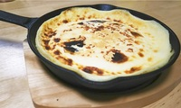 オーブンなし、スキレットと魚グリルで嫁モテ狙いのベイクドチーズケーキ