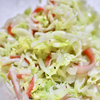 マヨネーズ控えめなコールスローサラダ。 お酢でさっぱりレシピ。