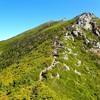 秋晴れの中、憧れの稜線へ…
