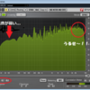 電子音学と生音音楽の周波数分布