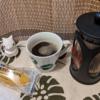 今回のコーヒーはグァテマラ(中煎り)~お茶請けはスイートポテト~
