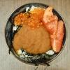 豊洲の「米花」で魚卵丼、白滝の真子炒め、ほうれん草の卵炒め、肉豆腐、まぐろ刺身。