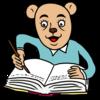 日記を書くクマ のイラスト