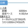 2017/05/28 6000mペース走(2)