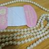 パールロングネックレスを500円で買いました。