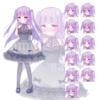 キャラクターの販売:ドレスのヤンデレっぽい女の子