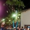 望月榊祭りの松明投げ