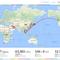 フライト軌跡サイト「my Flightradar24」が面白い、わしは2017年は37フライト地球2.5周してました