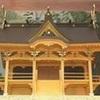 益城町の 崩壊の木山神宮 山鹿灯籠祭りに