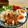 6/18  玄米とポークビーンズ ウォーキングと猫餌付け @減量めし