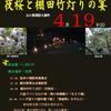 夜桜と棚田竹灯りの宴