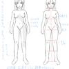 【28】 4/14 「体の描き方を考える。③ -6頭身のパーツの位置と試し描き-」