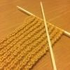 ミステイクステッチ楽しい!この冬は始めました、編み物アミアミ
