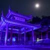 大門碑林公園のライトアップがゲームの世界みたいで壮大すぎる!