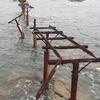 No:060【神奈川県】海上に残るトロッコレールの残骸!!波に飲まれて消滅するは間近だ!