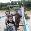 Am Pe Phnom Resort (オンパェ プノム リゾート)木で出来ている吊り橋を渡って来ました。