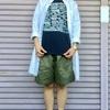 最近の服|夏にオリーブのボトムスを着るコーデ
