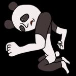 悔しがるパンダ のイラスト