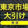 5月21日(木)東京市場大引け。買い先行後、高値警戒感から下げに転じて終了。