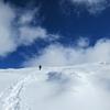 新雪の鳥海山にてⅢ