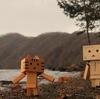 白老町 日本2番手の透明度の倶多楽湖にて