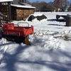 運搬車で初除雪作業!