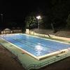 夜の元町公園プールと、吉田町の新しいお店