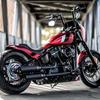"""パーツ:Killer Custom「M8 Softail Rear Fender """"Bobbstr"""" For 180-200 Wide Tires」"""