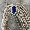 天然石を使ったマクラメ編みの途中が面白い!