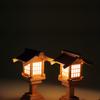 神前で使う木製の灯籠セット 尾州桧で作る灯篭