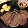 期間限定メニューの「お箸で食べる牛みすじステーキ ライス付き」をいただきました。 at デニーズ_北池袋店